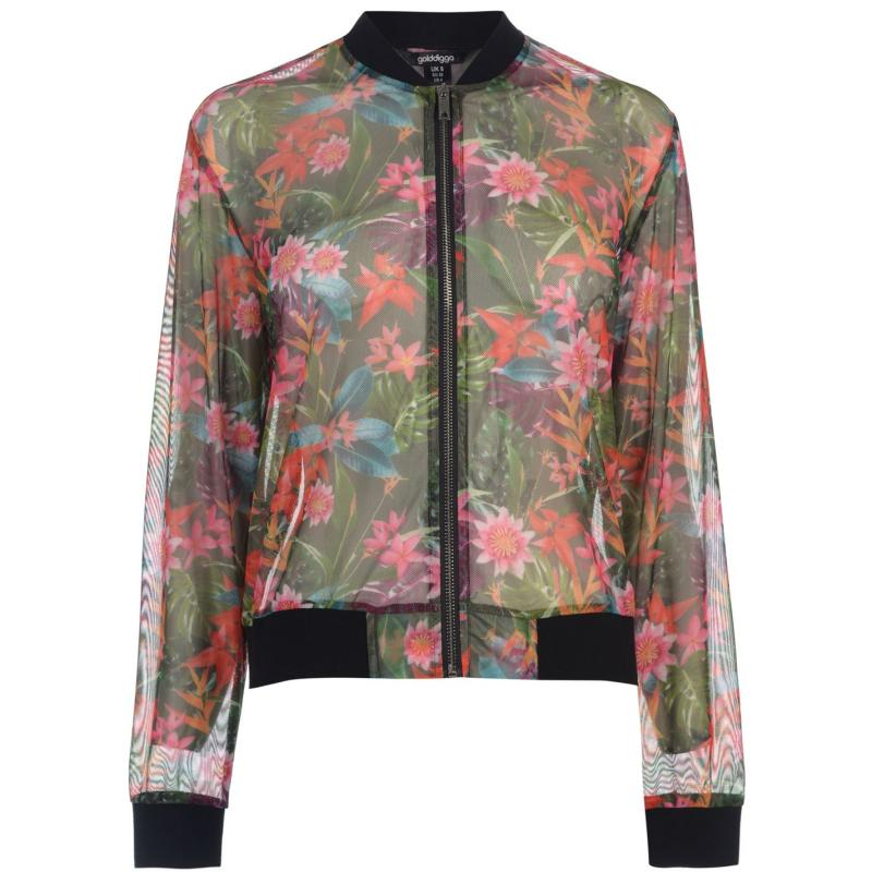 Golddigga Fashion Jacket Ladies Floral