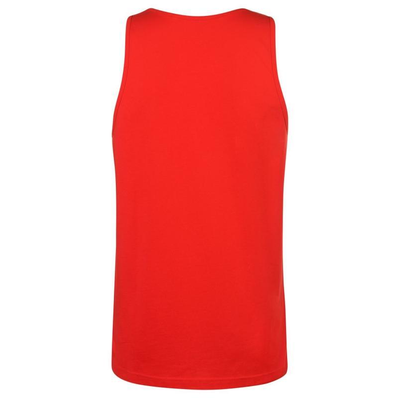Tílko Airwalk Stripe Long Vest Mens Red