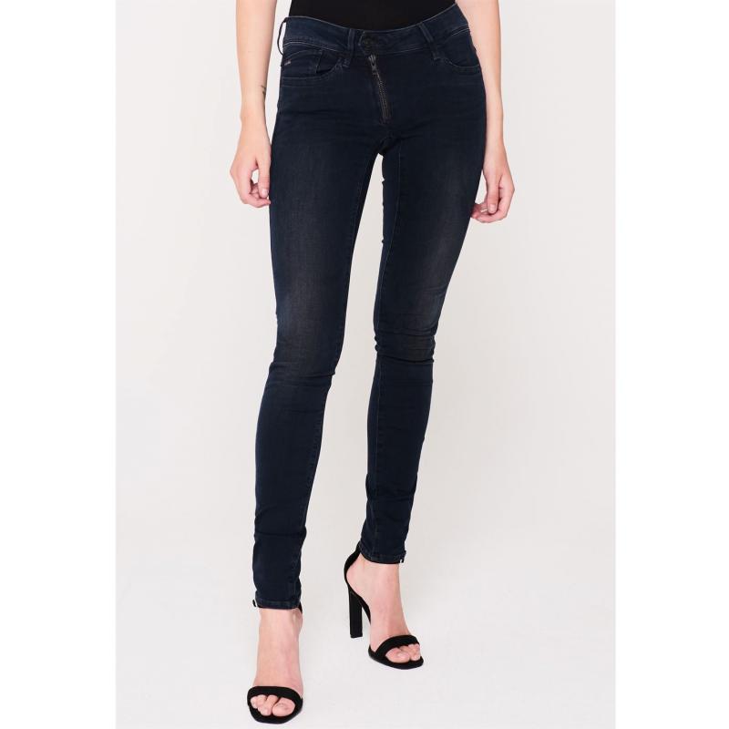 G Star Lynn Zip Mid Skinny Jeans medium aged