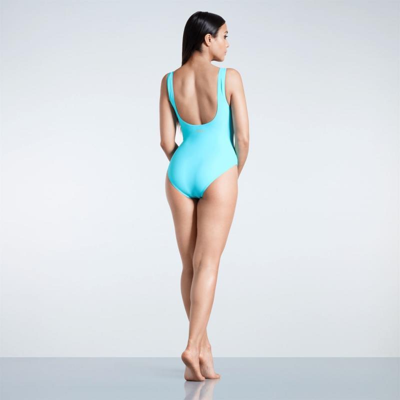 Plavky Golddigga Badge Swimsuit Ladies Teal Lips