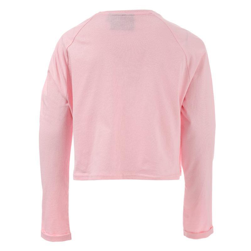 Beck And Hersey Junior Girls Crop T-Shirt Pink