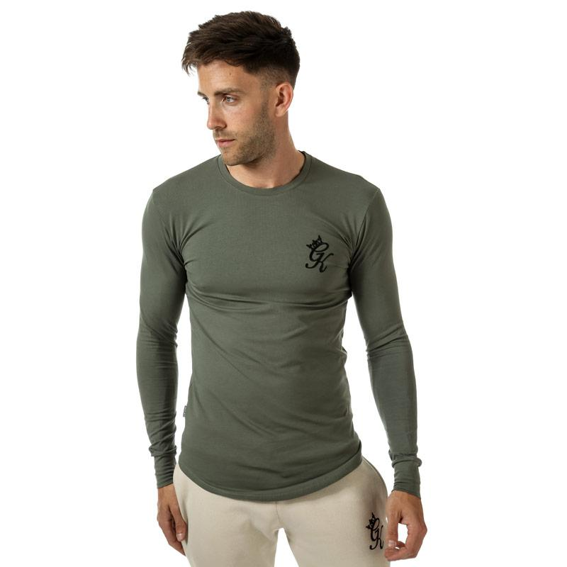 Tričko Gym King Mens GK Longsleeve Fitted T-Shirt Grey