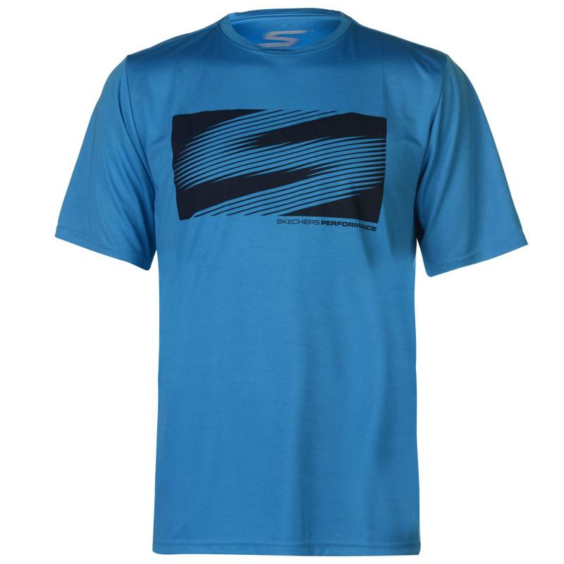 Tričko Skechers Shadow T Shirt Mens Blue