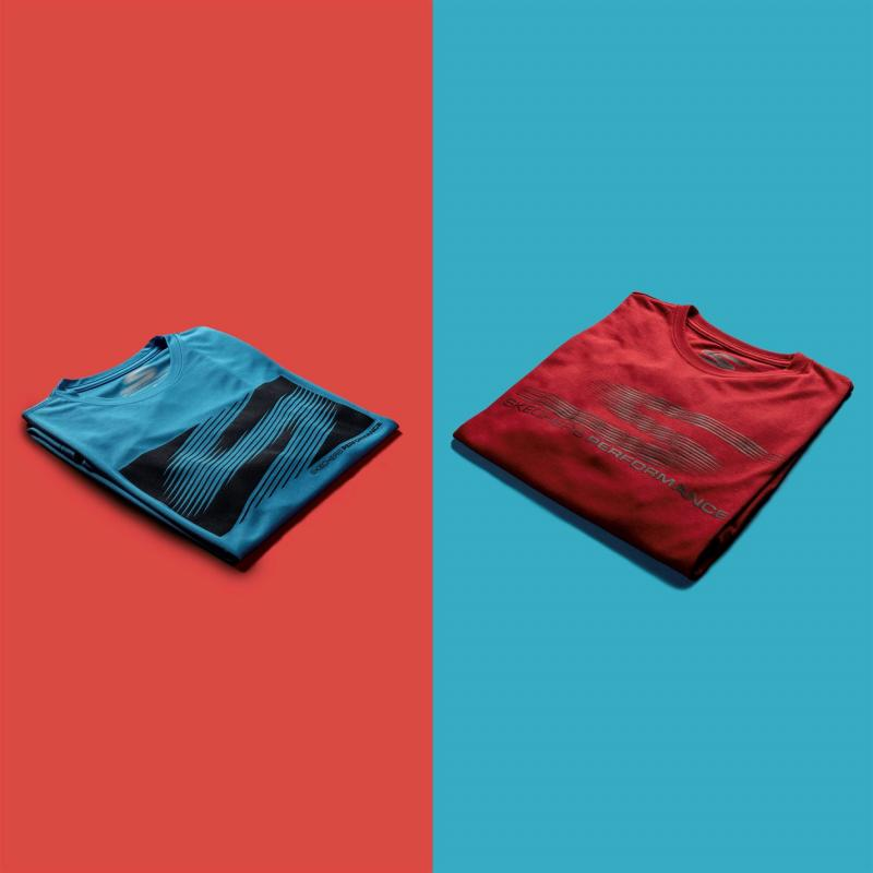 Tričko Skechers Shadow T Shirt Mens Blue