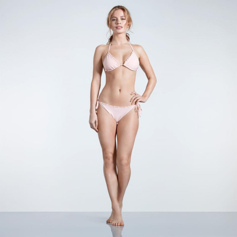 Plavky USA Pro Lattice Bikini Bottoms Ladies Blush