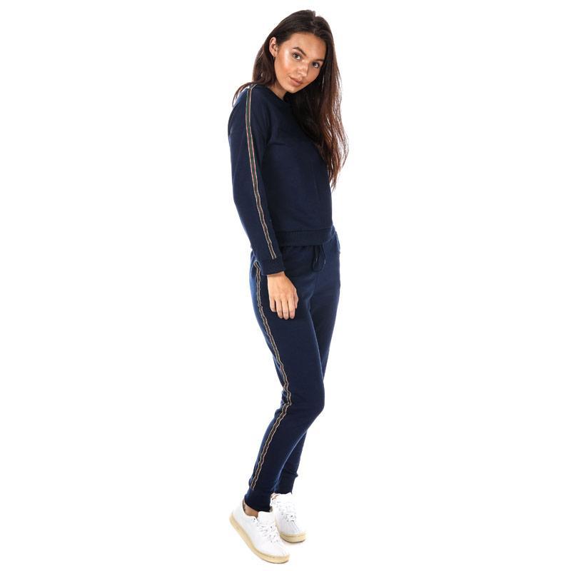 Sportovní kalhoty Daisy Street Womens Stripe Jog Pants Black