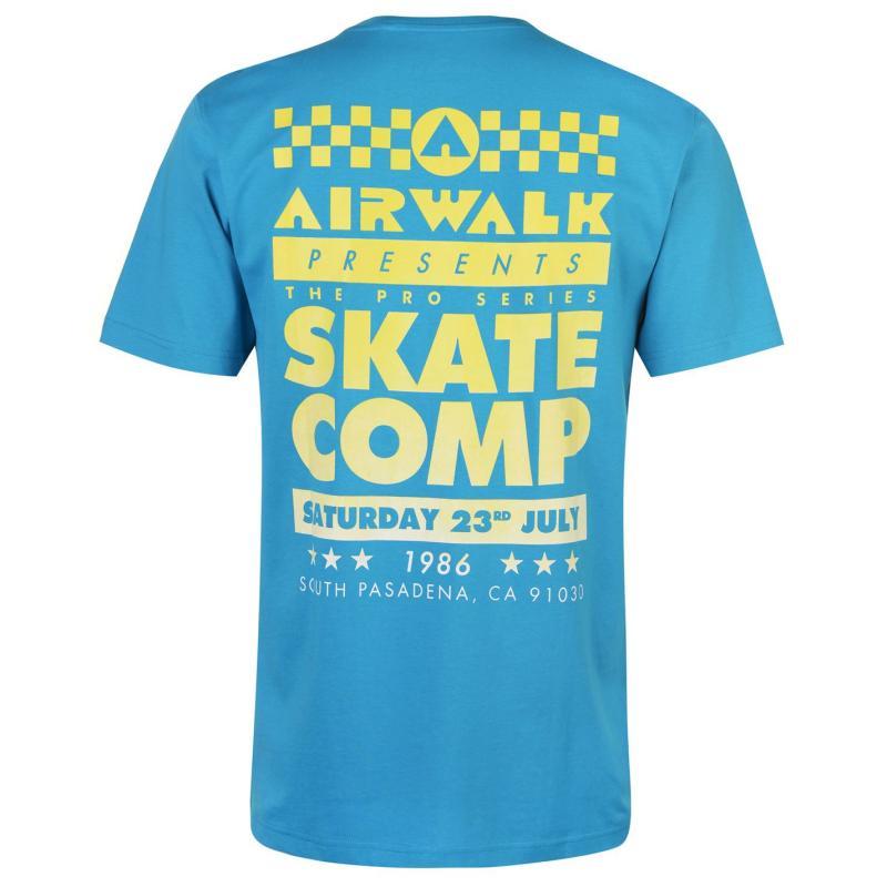 Tričko Airwalk Competition Graphic T Shirt Mens Black