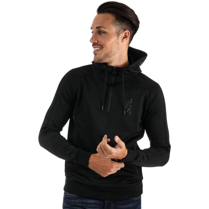 Mikina Gym King Mens GK 1/4 Zip Poly Tracksuit Top Black