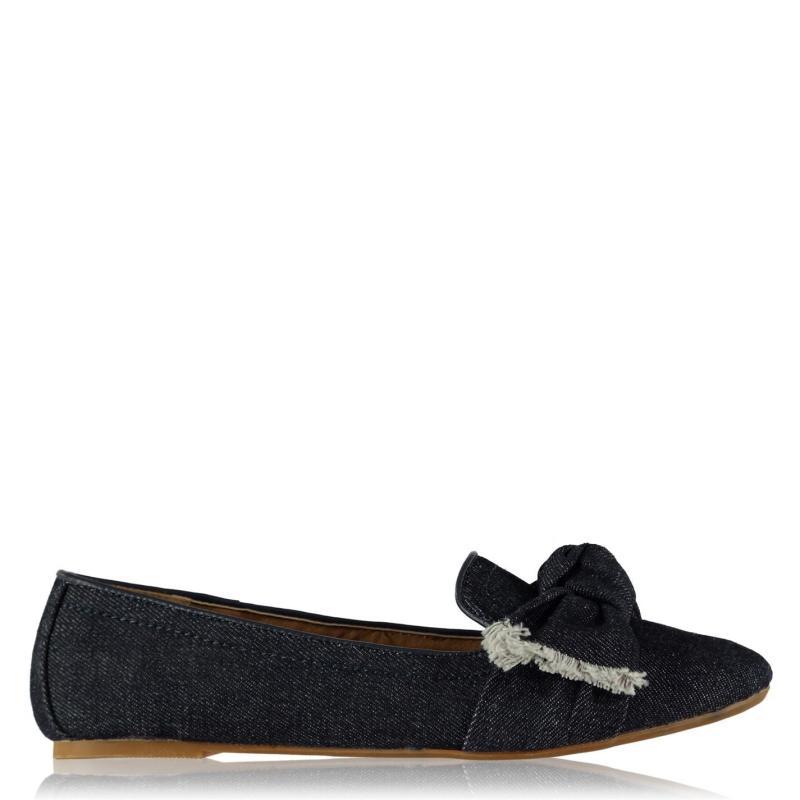 Miso Sassy Bow Ladies Shoes Navy