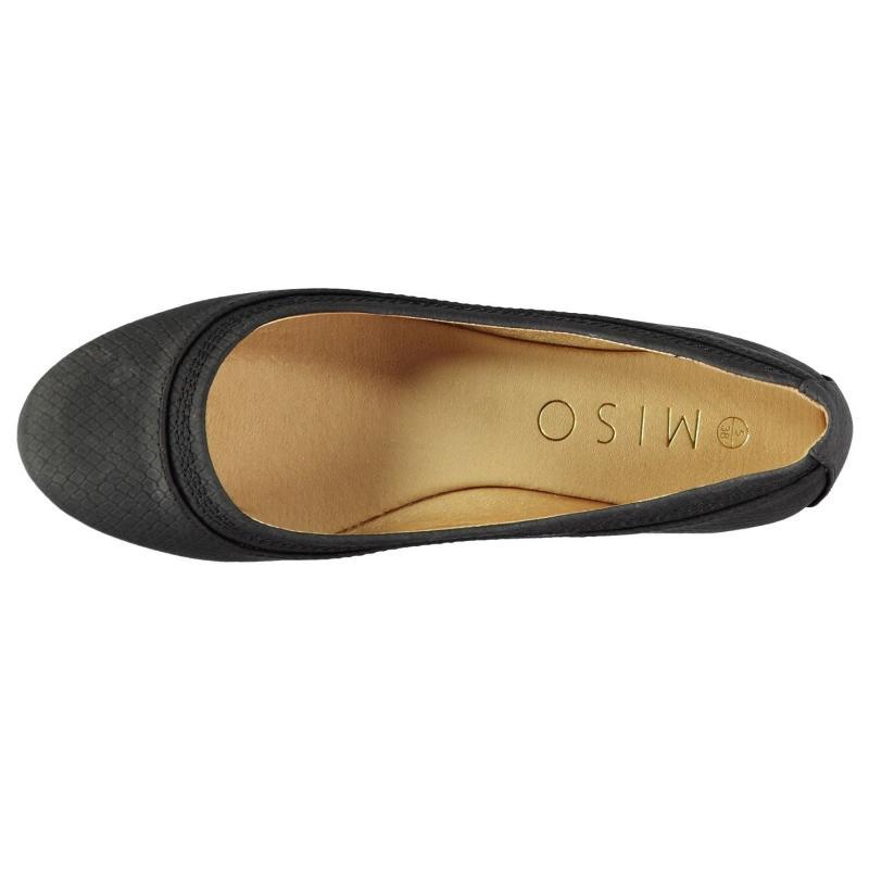 Miso Wendy Ladies Ballet Shoes Black Snake