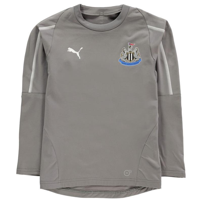 Puma Newcastle United Training Sweatshirt 2018 2019 Grey