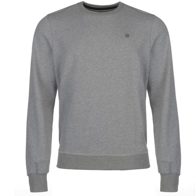 Mikina G Star Core Sweatshirt Grey