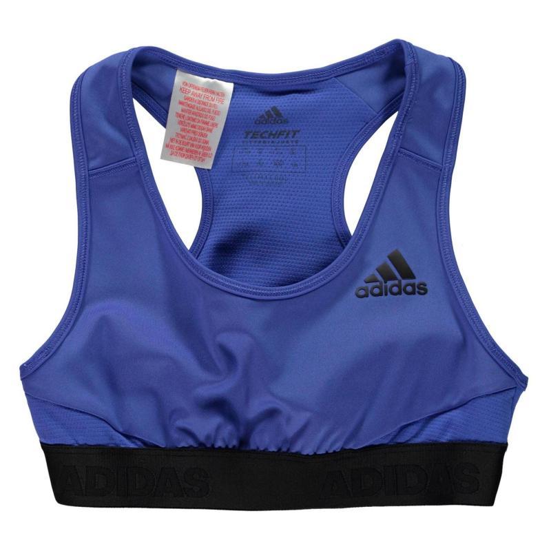 Adidas ASK Sports Bra Junior Girls Blue/Black