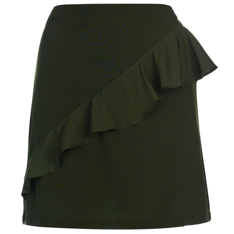Sukně Golddigga Frill Skirt Ladies Khaki