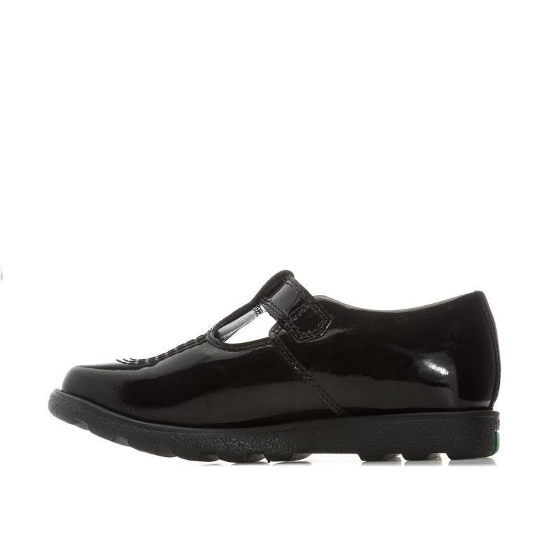 Kickers Infant Girls Fragma T-Bar Patent Shoes Black