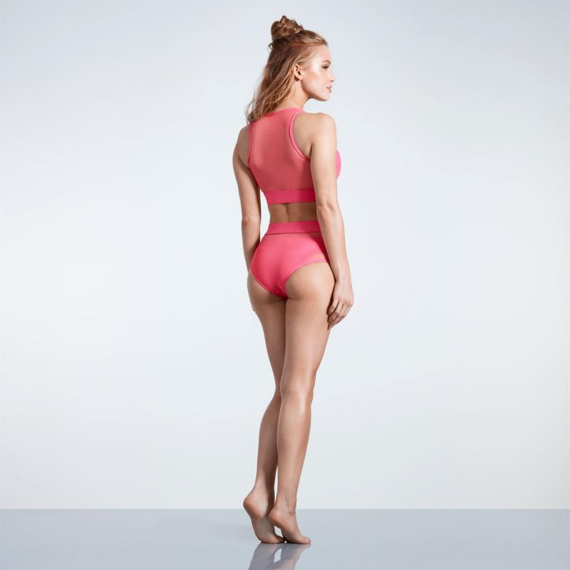 Plavky USA Pro Hi Mesh Bikini Bottoms Ladies Coral