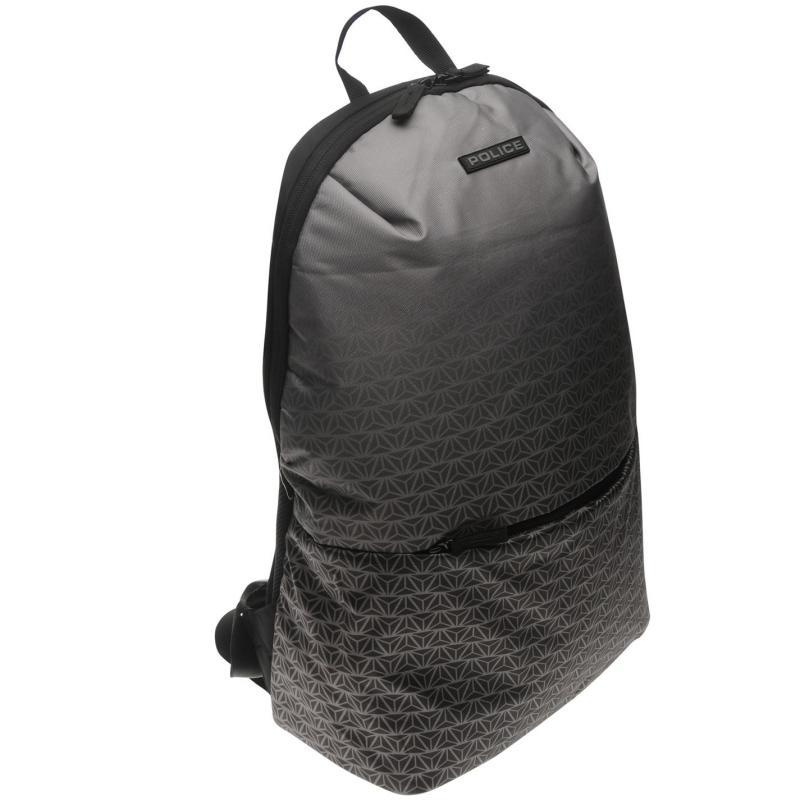 Police Grid Backpack Grey