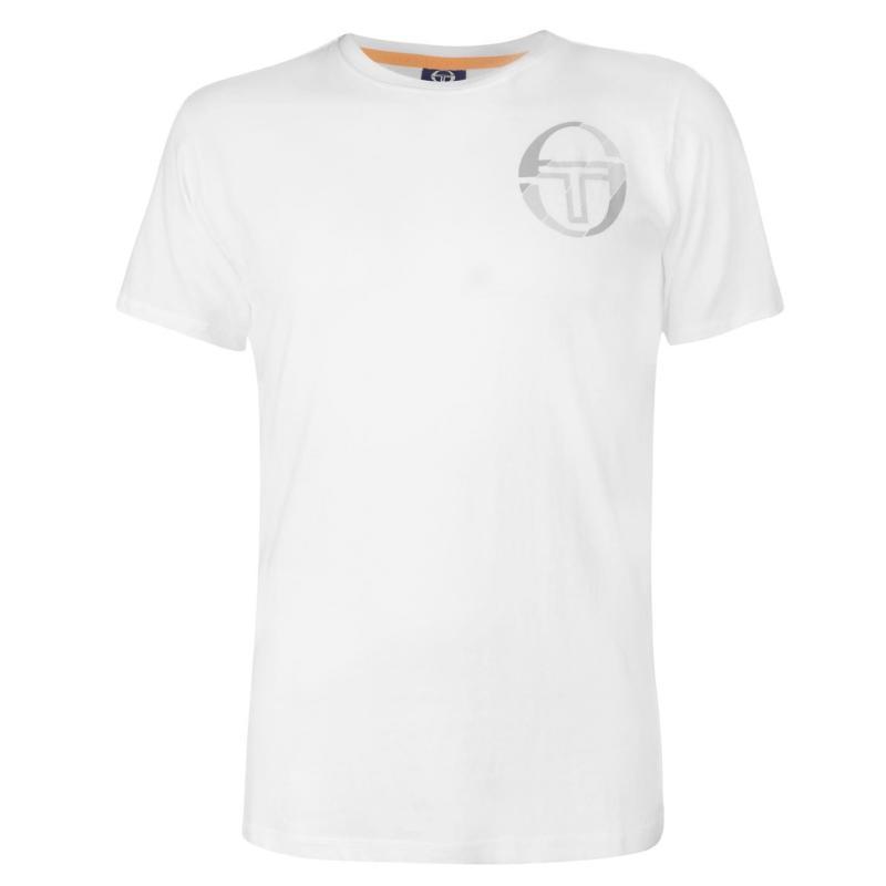 Tričko Sergio Tacchini Zang T Shirt Mens White/Grey