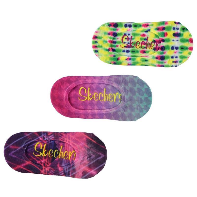 Skechers Trainer Socks 3 Pack Girls Pink
