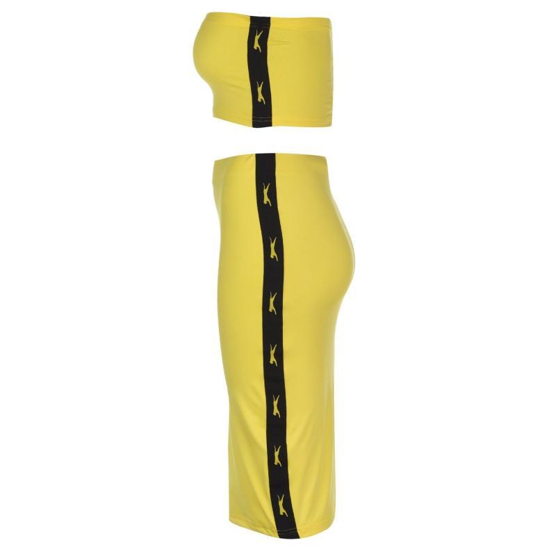 Sukně Slazenger Banger Midi Skirt Yellow