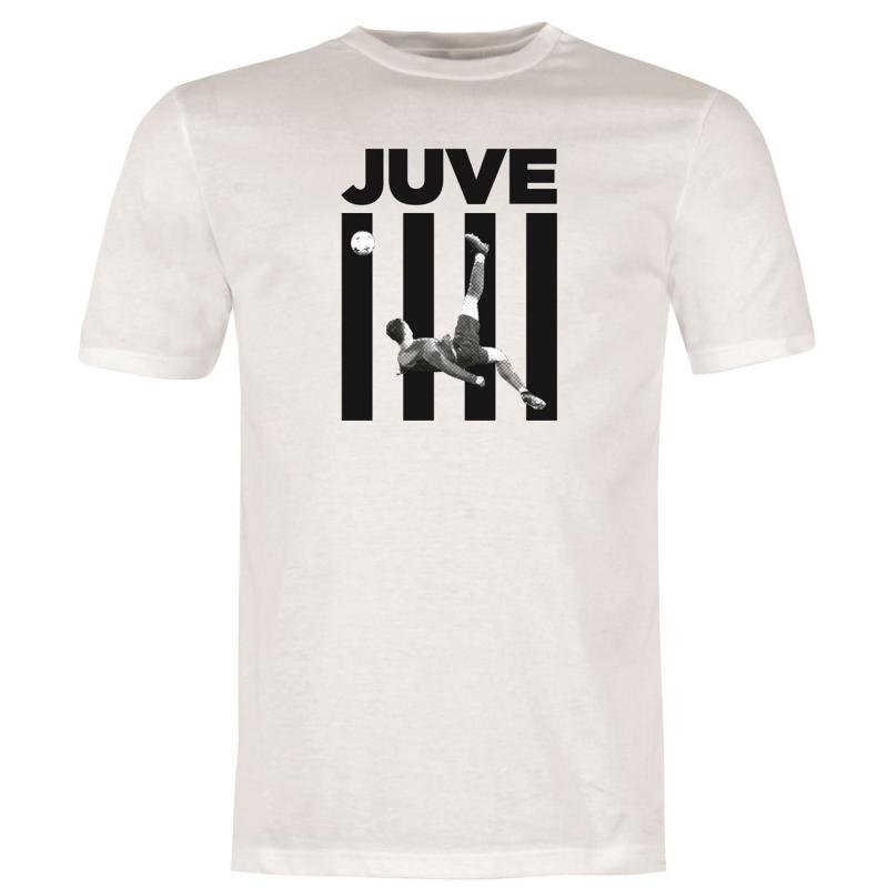Tričko Team Ronaldo Juve T Shirt Mens White