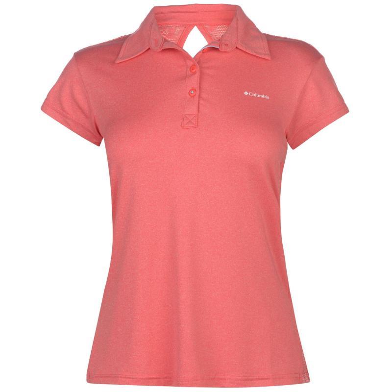 Polokošile Columbia Peak Polo Shirt Ladies Red