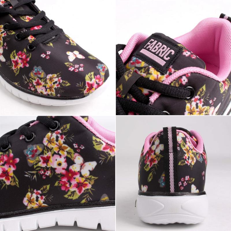 Fabric Flyer Runner Junior Trainers Floral