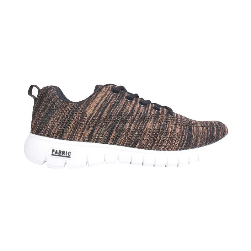 Fabric Flyer Runner Ladies Trainers Black/Rose Gold