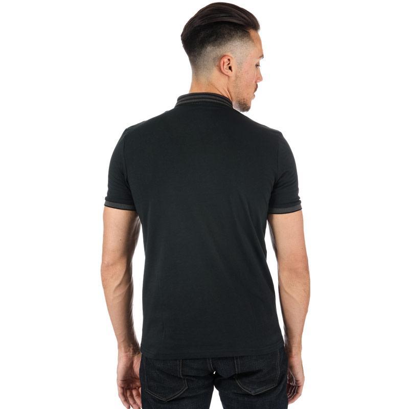 Gabicci Vintage Mens Yale Oxford Collar Polo Shirt Black