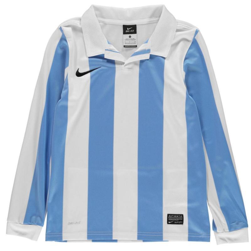 Tričko Nike Long Sleeve Jersey Junior Boys Blue/White