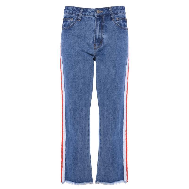 Glamorous Stripe Jeans Mid Stonewash