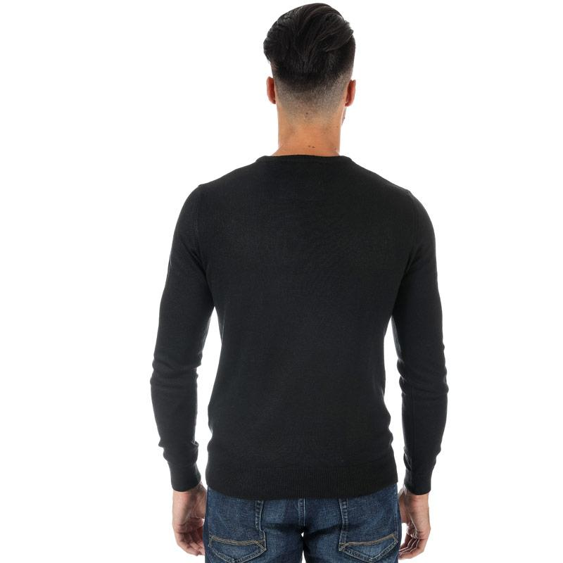 Mikina Luke 1977 Mens Gerard 3 Crew Neck Knit  Black
