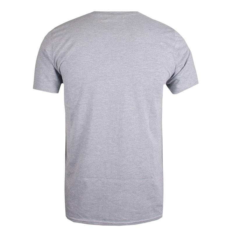 Tričko Get The Label Mens Jaws T-Shirt Grey Marl