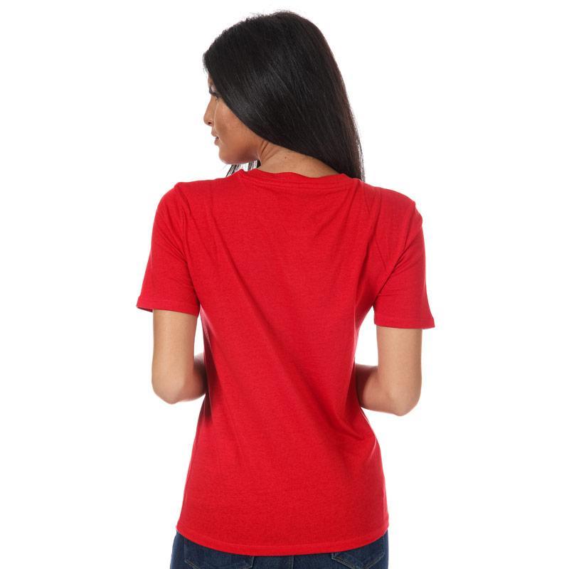 Only Womens Ava Slogan T-Shirt Burgundy