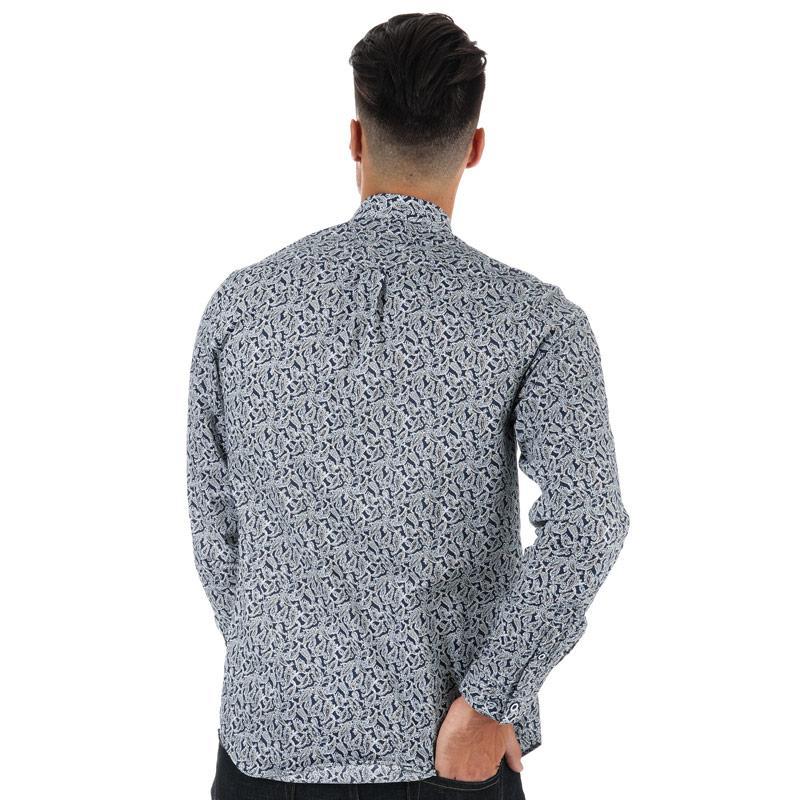 Gabicci Vintage Mens Oadby Cutaway Collar Shirt Navy