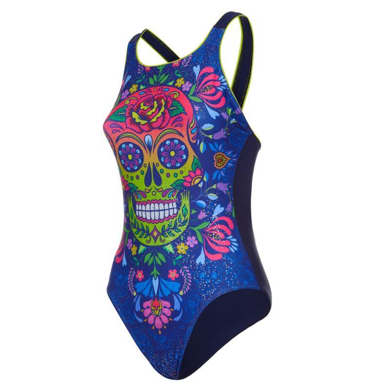 Plavky Maru Vee Back Swimsuit Ladies Skulls N Rosses