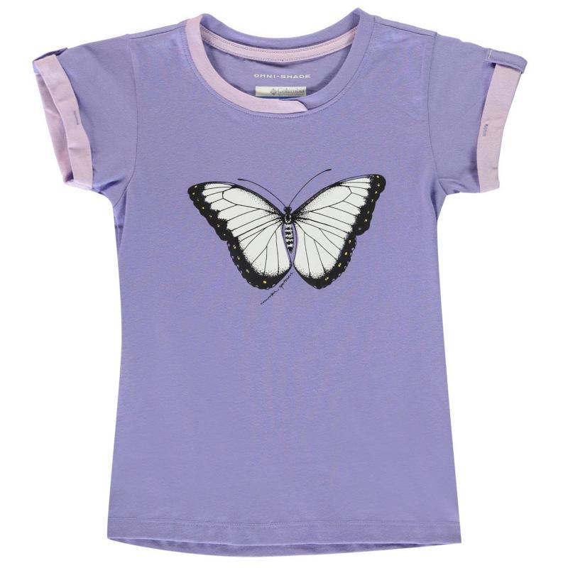 Columbia Trail T Shirt Junior Girls Lilac