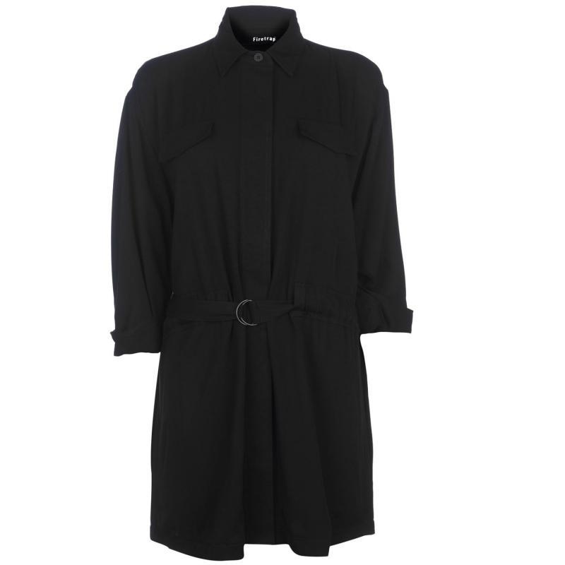 Firetrap Tie Waist Jacket Ladies Black