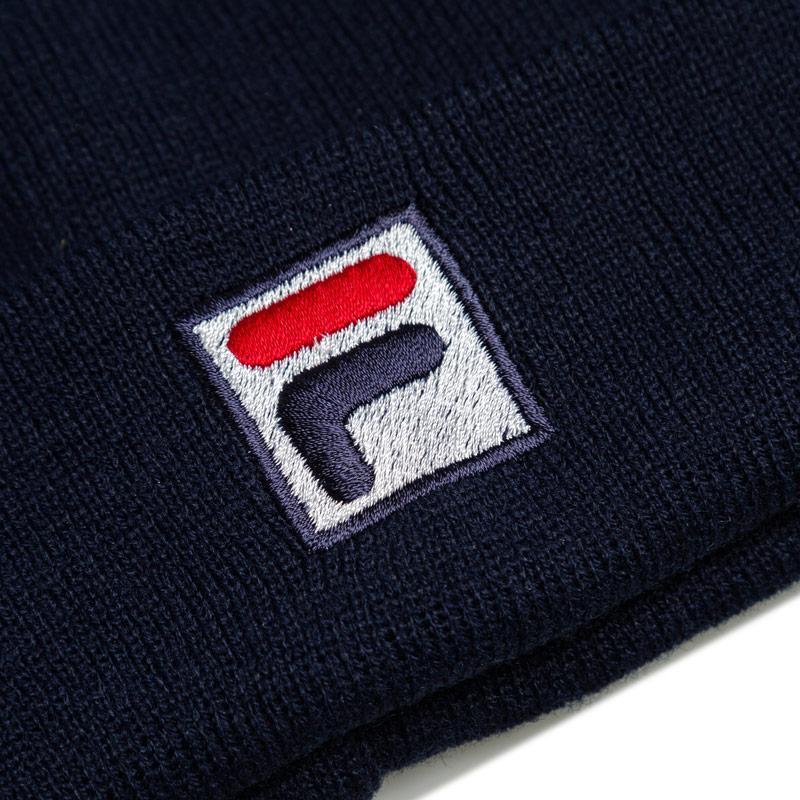 Fila Mens Beanie Logo Hat Navy