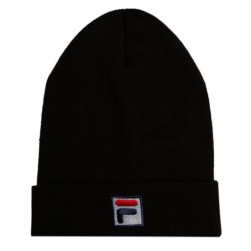 Fila Mens Beanie Logo Hat Black