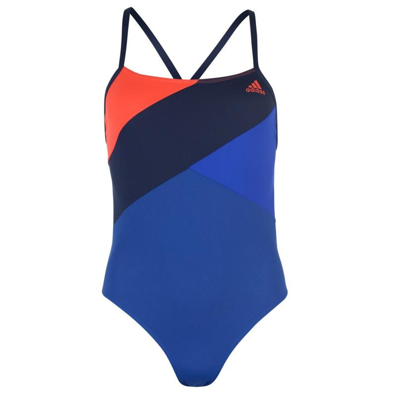 Plavky adidas Performance Colour Block Swimsuit Ladies Navy/Red/Blk