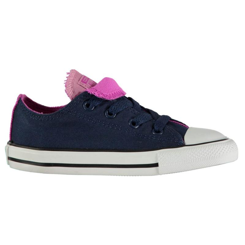 Converse Double Toungue Canvas Shoes Navy/Magenta