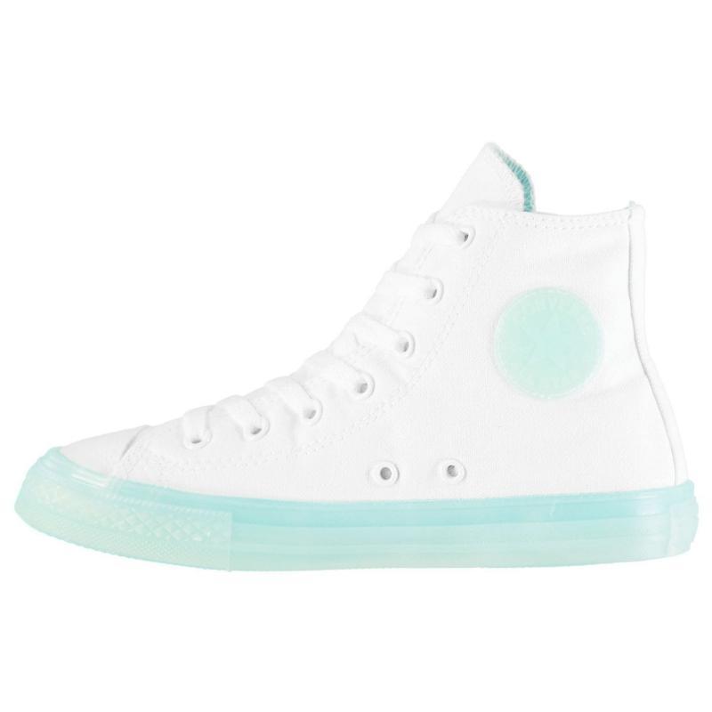 Converse Hi Candy Trainers White/Aqua