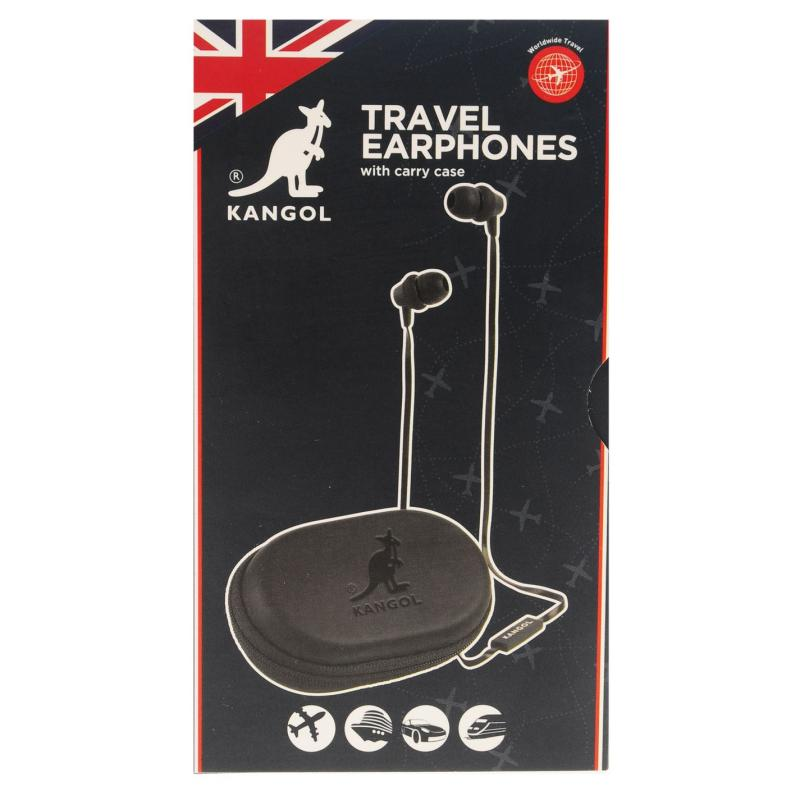 Kangol Travel Earphones Black