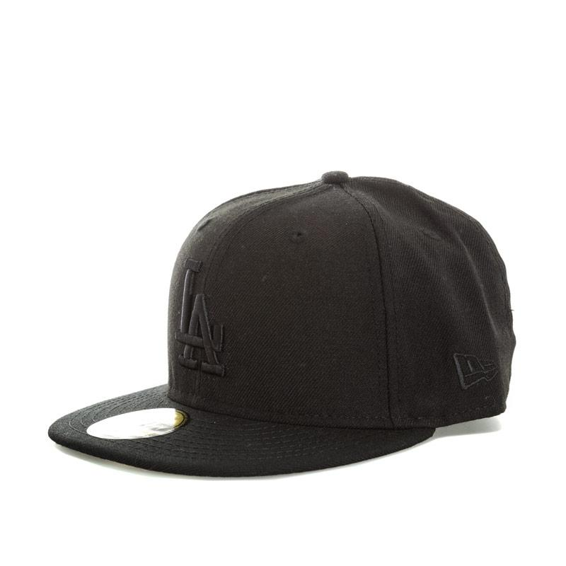 New Era Mens LA Dodgers Black On Black 59Fifty Cap Black