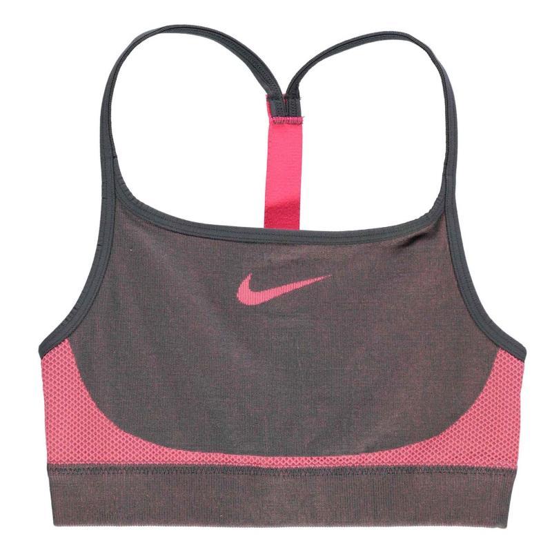 Nike Seamless Bra Junior Girls Grey/Pink