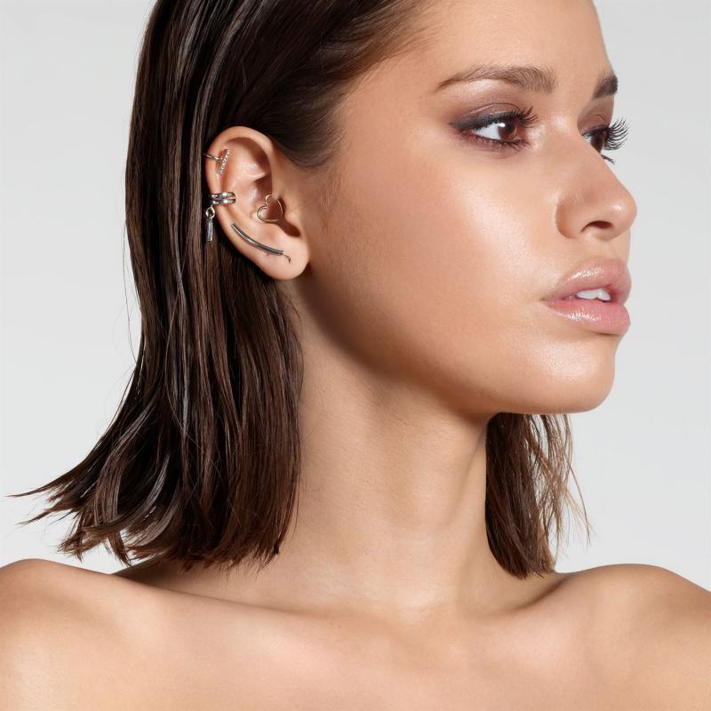 Golddigga Bar Earrings Ladies Silver