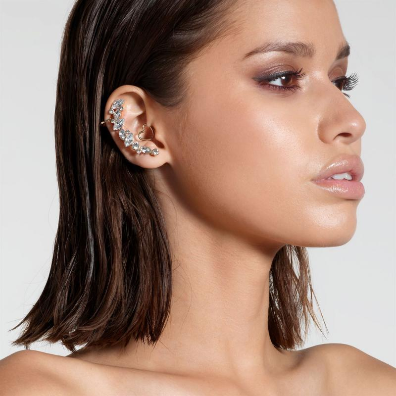 Golddigga Diamante Ear Cuff Gold