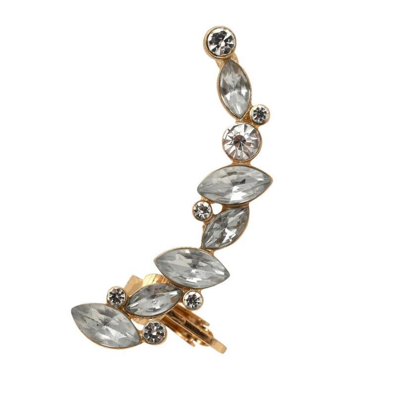 Golddigga Diamante Ear Cuff Gold