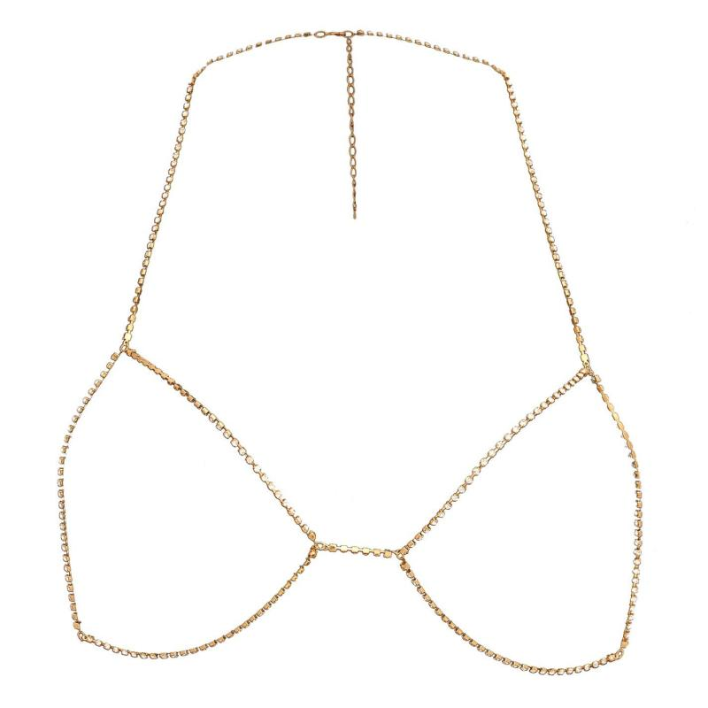 Golddigga Silhouette Body Chain Gold